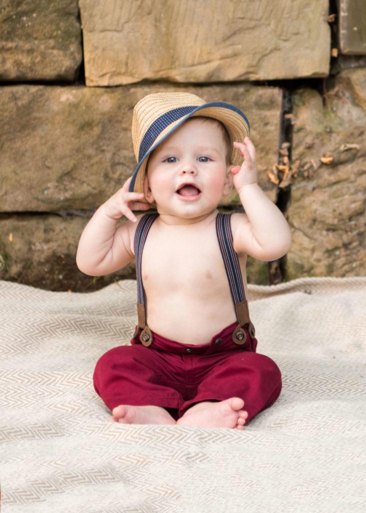 6 month photo session boy