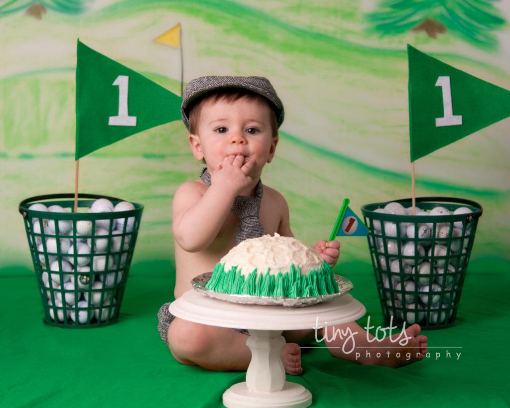 Golf Themed Cake Smash