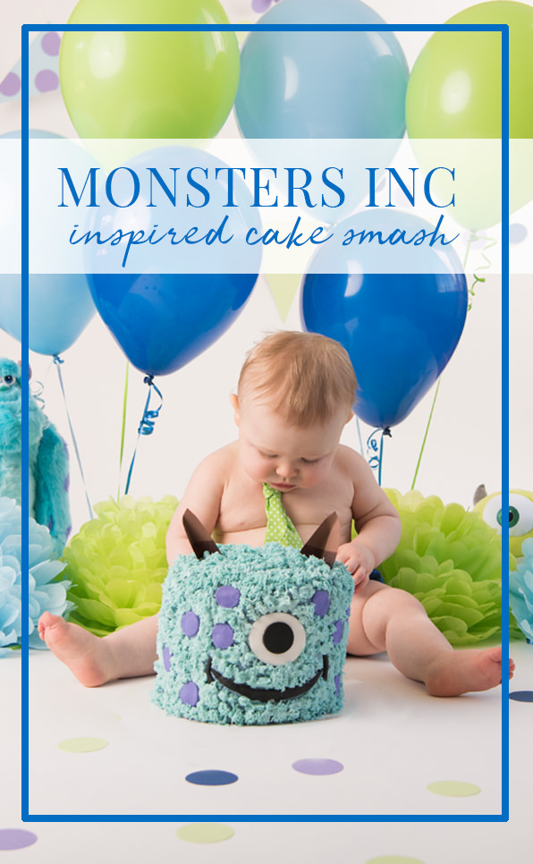 Fantastic Monsters Inc Cake Smash Kristen Fotta Photography Personalised Birthday Cards Veneteletsinfo