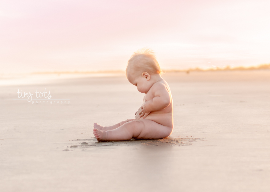 9 month old baby beach photos