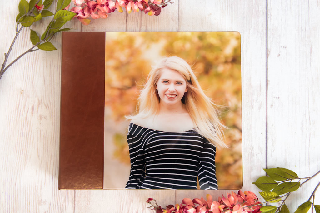 acrylic album of senior session