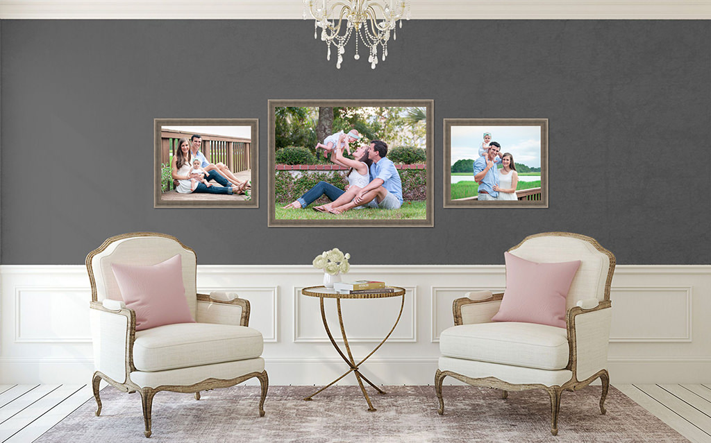 living-room-with-family-portraits