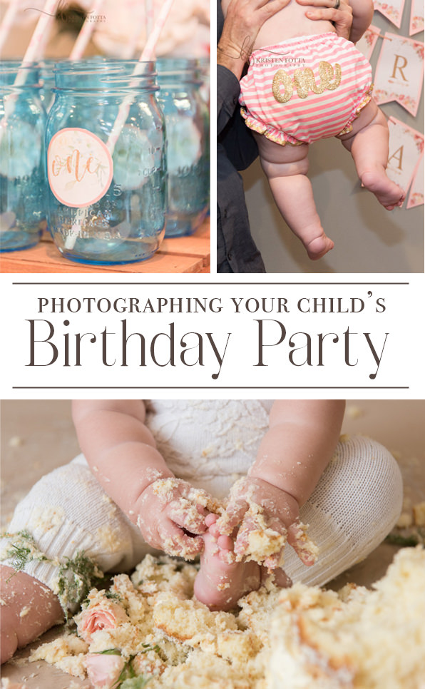 photographing your child's birthday party