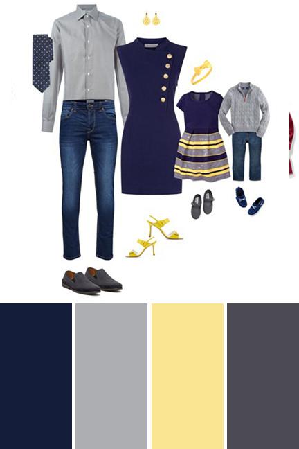 Color schemes for family photos