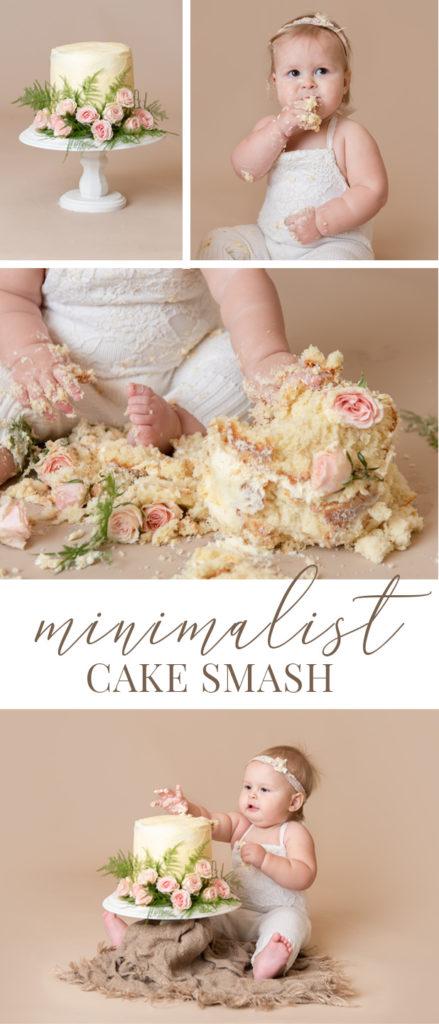 minimalist cake smash