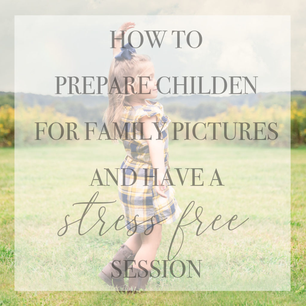 preparing children for a photo session
