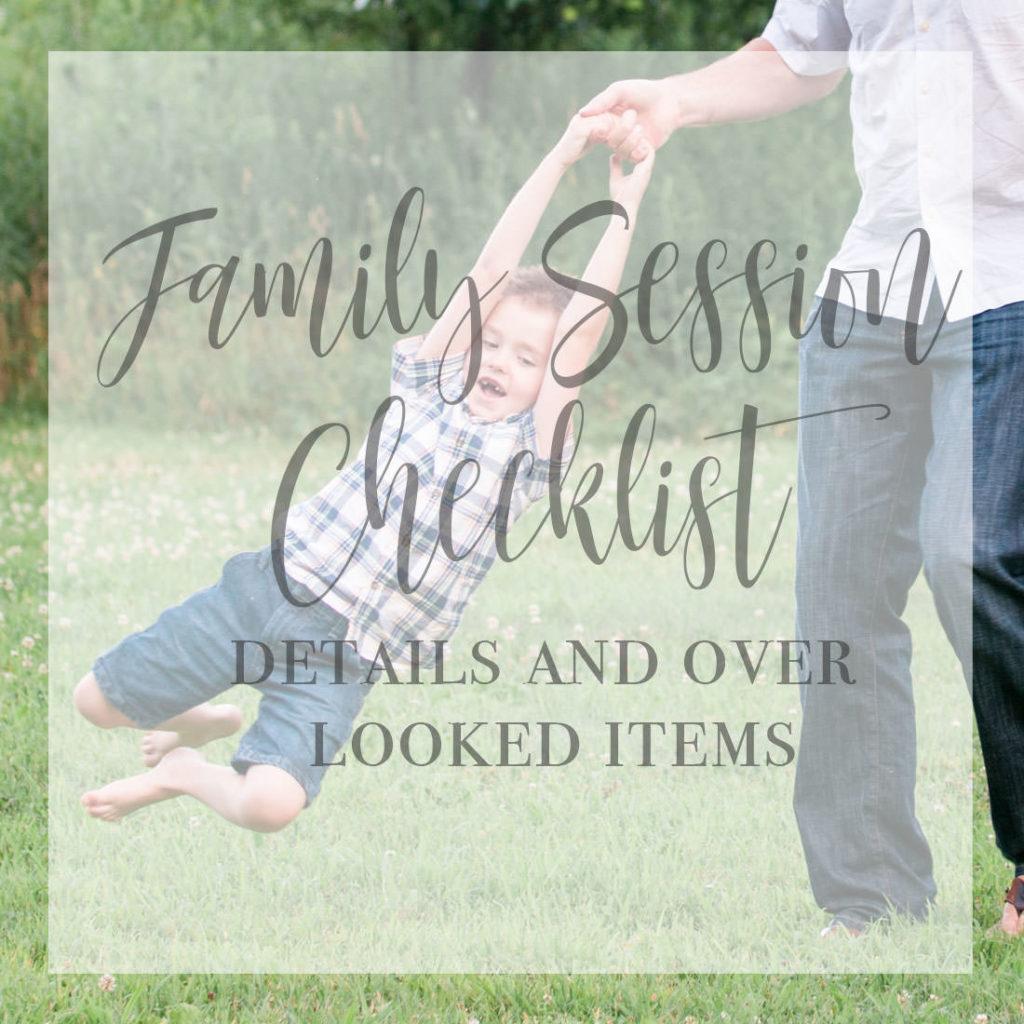 family photo session checklist